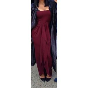 Dresses & Skirts - Maxi Burgundy Dress